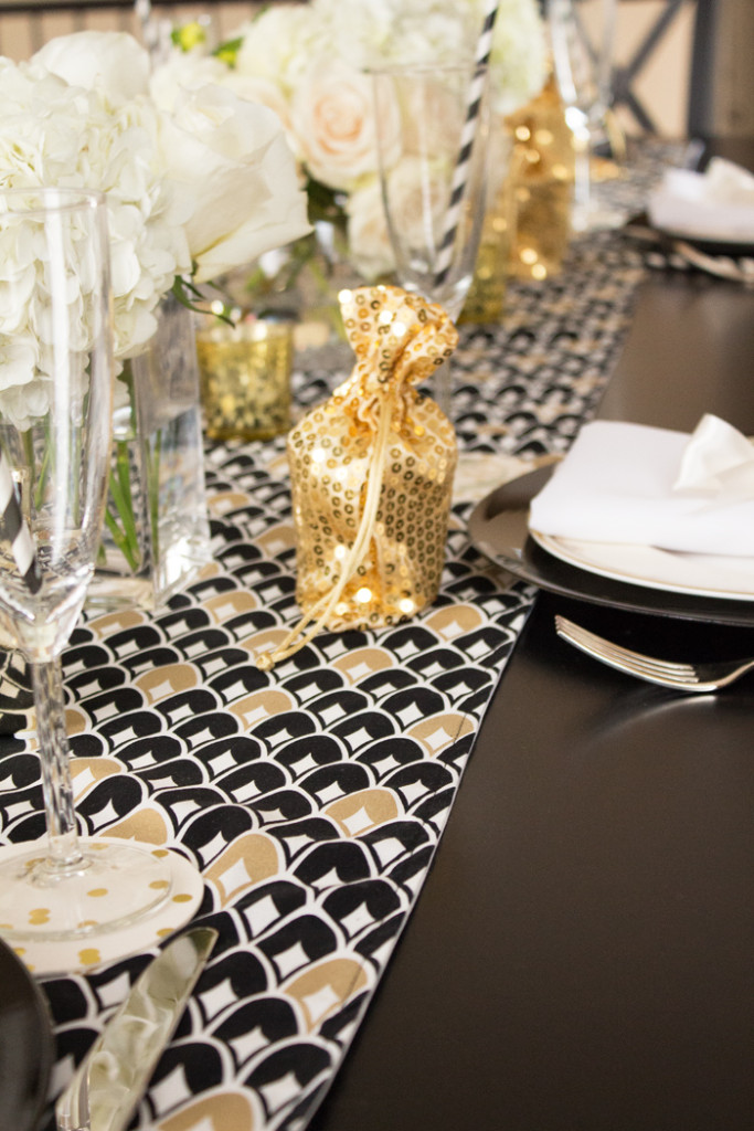 Black and Gold for the table in Trix & Trumpet's Dinner Party Box