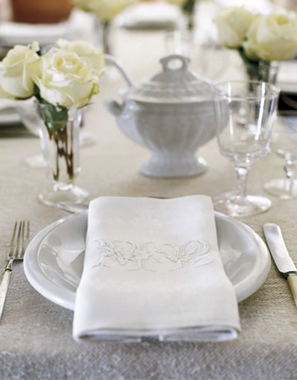 White table setting feature image