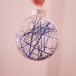 Tinsel Ornament DIY from www.trixandtrumpet.com